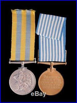 Korean War Medal Pair. Private Smith, King's Liverpool Regiment, Queens Korea