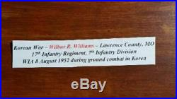 Korean War Medal group to Missouri Army infantryman 17th Infantry WIA