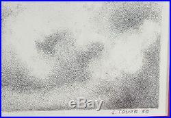 Korean War Memorabilia Original Realism Painting Soldiers Signed J. Tovar'58