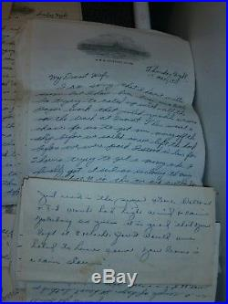 Korean War Military Navy Letters Home From US Lt. VF-62 Fighter Pilot Squadron