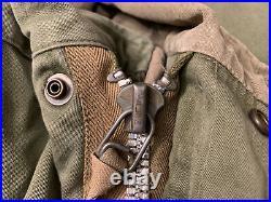 Korean War Military Parka Shell M-1951 Hood Mohair Liner Fishtail Jacket Medium