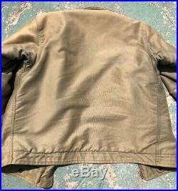 Korean War N-1 Deck Jacket 1950s Size 38 Usn Conmar Zippier