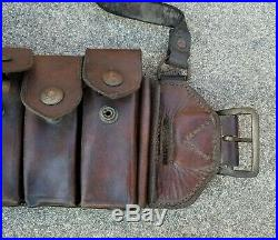 Korean War Nork KPA Mauser bandoleer ammo pouch Chinese Communist PVA rig
