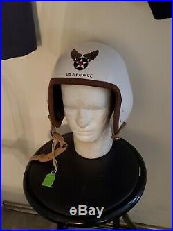 Korean War P-1 Flight Helmet + Usaf Shirt + Flying Trousers & Wool Dress Trouser