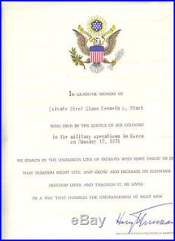 Korean War Posthumous Grouping to Kenneth Stark for Wounds Received in Action