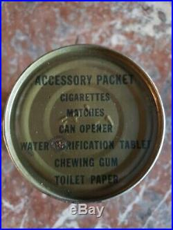 Korean War RCI Accessory Pack Ration ww2