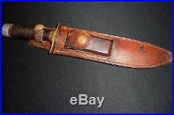 Korean War Randall Fighting Knife -ID'd Model 1/Old/Antique/Heiser Brown Button