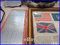Korean War Real Flyer Reward Letter /mb-4 Computer Air Kit / Hat (7896-war Ay)