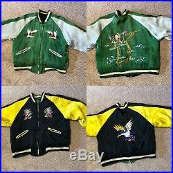 Korean War Satin Embroidered Souvenir Jacket- REVERSIBLE