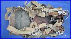 Korean War Seat Pack Parachute pack & harness 1952 MFG Pioneer Parachute CO