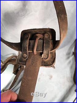 Korean War Signal Corps U. S. Army 1950 Climbing Belt & Gaffs Original Set