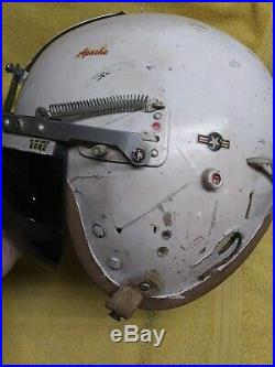 Korean War Style US Air Force USAF P-4A Pilot Flight Helmet MicCord L USED