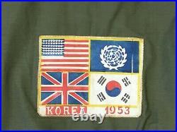 Korean War Tanker Jacket Vtg 1950's Korea Tanker Jacket Vtg Souvenir Jacket 50's