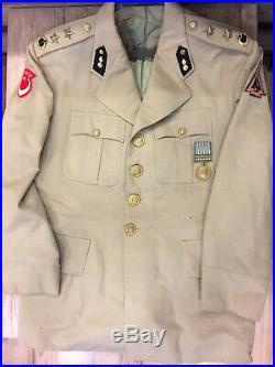 Korean War Turkish Armed Forces Infantry Repair and Maintenance Comp. Uniform