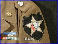 Korean War U. S. Army 2nd Infantry Division Private Ike Jacket Bullion Patch RARE
