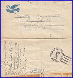 Korean War U. S. Army Cpl P. O. W. Cover, 1953 to Plymouth, PA (S3615)