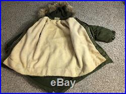 Korean War U. S. Army M-1951 Parka Fish Tail Dated 1951 100% Complete Coat Wool