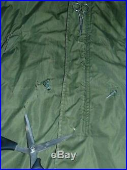 Korean War U. S. Army M-1951 Parka Fish Tail Dated 1953 Includes Liner/Hood Med