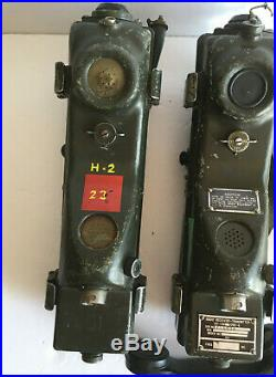 Korean War U. S. Army Prc-6 Walkie Talkies (working)