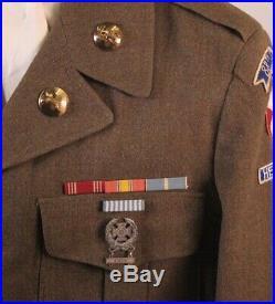 Korean War U. S. Army Uniform Ike Jacket 88th Infantry Bn Heavy Mortar (RARE)