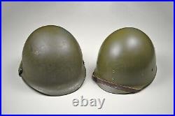 Korean War U. S. M1 Steel Combat Helmet Complete & Excellent