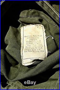 Korean War US Air Force Extreme Weather Overcoat/Parka w Liner MIL-O-1952 MEDIUM