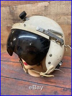 Korean War US Air Force USAF P-4B Pilot Flight Helmet Visor Apr 15 1959 Sz L