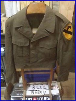 Korean War US Army 1st Cavalry Division Ike jacket named grouping with boots
