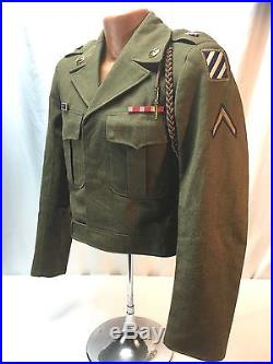 Korean War US Army 3rd Infantry Division Ike Jacket With Hat