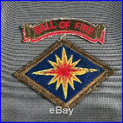 Korean War US Army 40th Infantry Division SSI Patch with Ball Of Fire Scroll 749V