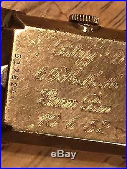 Korean War US Army Engraved Bulova 10 K Gold Filled Battery D, 69th AAA, Gun
