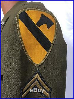 Korean War US Army First Cavalry Enlisted Ike Jacket