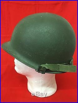 Korean War US Army Major M1 Helmet with Liner