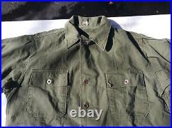Korean War US Army Wreath Buttons HBT Combat Shirt Size Medium 1950s