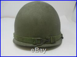 Korean War US M-1 1st Lieutenant Army Helmet Capac Liner 10th Armored Division