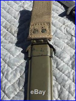 Korean War US M5A1 Bayonet And Scabbard