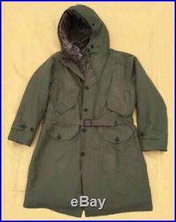 Korean War US Marine Corps USN M-1947 M47 Pile Lined Parka Overcoat size L (44)