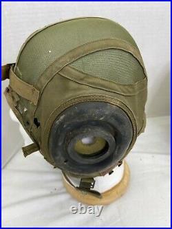 Korean War US Navy H-4 Pilots Flight Helmet & Liner