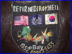 Korean War US Navy Named G-1 Jacket Bullion Theater Made Patches Eyes of Fleet