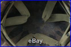 Korean War US Paratrooper Front Seam Helmet Maker Marked Capac