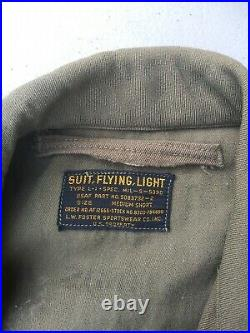 Korean War USAAF L-1 Light Flight Suit Size Medium Short MFG L. W. Foster