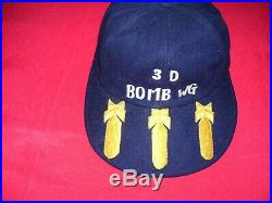 Korean War USAF 3rd Bomb Wing B-26 Blue Wool Flight Cap with Bombs on Visor