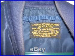 Korean War USAF AF Blue Nylon L-2A Flight Jacket (38)