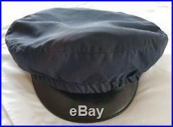 Korean War USAF Officer Uniform Crusher Style Cap Pin Cover Wool Blue Medium