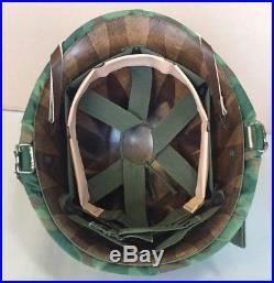 Korean War USMC Front Seam Swivel Bale Helmet, Westinghouse Capac Liner