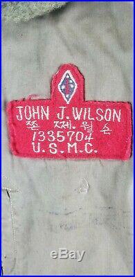 Korean War USMC Grouping Theater Made Patches