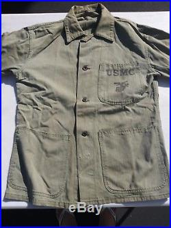 Korean War USMC P47 HBT 3 Pockets Shirt/Jacket Size 42R