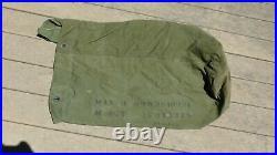 Korean War USMC US Marine Corps Military OD Duffle Bag Named Unis ++
