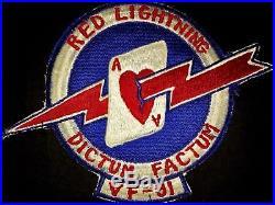 Korean War USN Fighter Pilot Patch Set RED LIGHTNING DICTUM FACTUM VF 91 & CVG-9