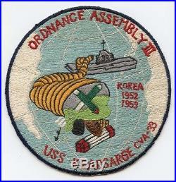 Korean War USS Kearsarge CVA-33 Ordnance Assembly III Jacket Patch